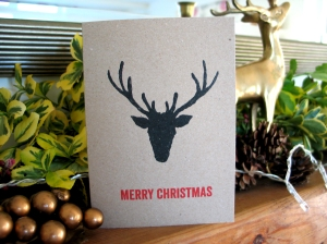 Reindeer collection Christmas Card