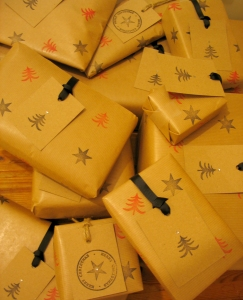 Christmas gift wrapping from Millbank and Kent